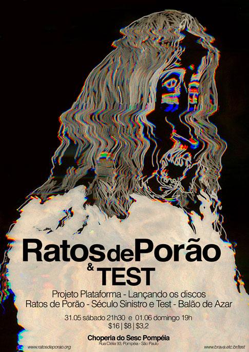 Test e Ratos de Porão no SESC Pompéia /SP