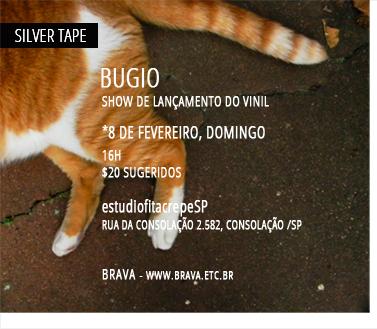 [Silver Tape] Bugio lança seu álbum de estréia no estudiofitacrepeSP