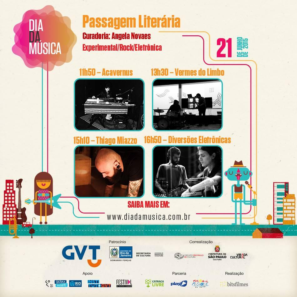 Palco Passagem Literária no Dia da Música /SP
