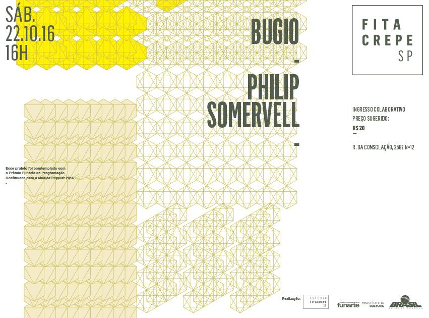 Bugio e Philip Somervell no estudiofitacrepeSP