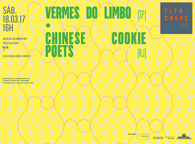 Chinese Cookie Poets e Vermes do Limbo no estúdiofitacrepeSP