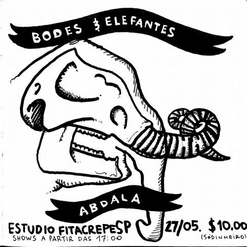 Abdala e Bodes & Elefantes no estúdiofitacrepeSP