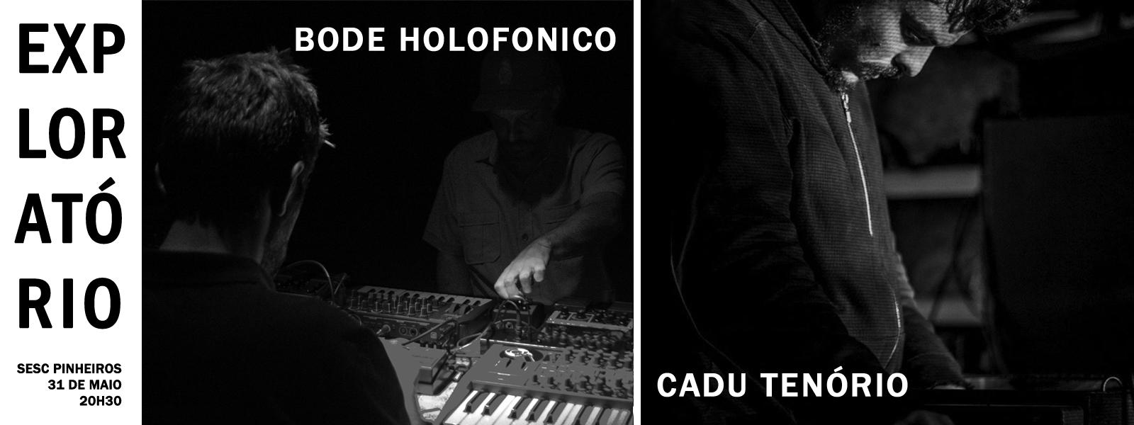 Cadu Tenório e Bode Holofonico no Exploratório, SESC Pinheiros /SP