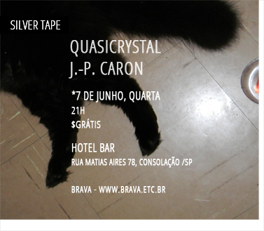 [Silver Tape] Quasicrystal e J.-P. Caron no Hotel Bar /SP