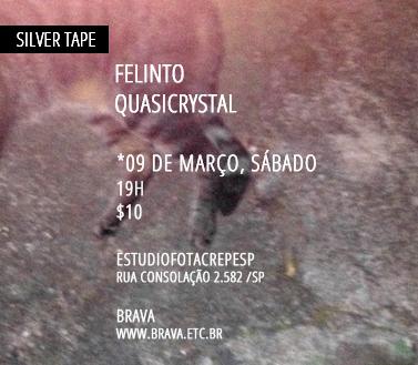 [Silver Tape] Felinto e Quasicrystal no estudiofitacrepeSP