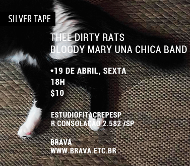 [Silver Tape] Bloody Mary Una Chica Band e Thee Dirty Rats no estudiofitacrepeSP