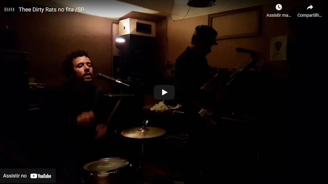 [video] Thee Dirty Rats no estudiofitacrepeSP