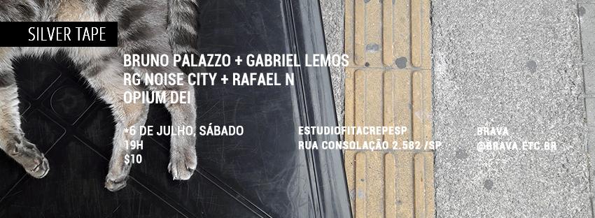 [video] Bruno Palazzo e Gabriel Lemos + RGNoise City e Rafael N + Opium Dei no estudiofitacrepeSP